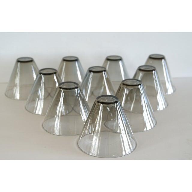 Modern Smoke Gray Cocktail Glasses - Set of 10 - Image 4 of 11