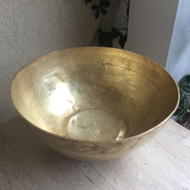Greek Key Brass Bowl - Image 7 of 8