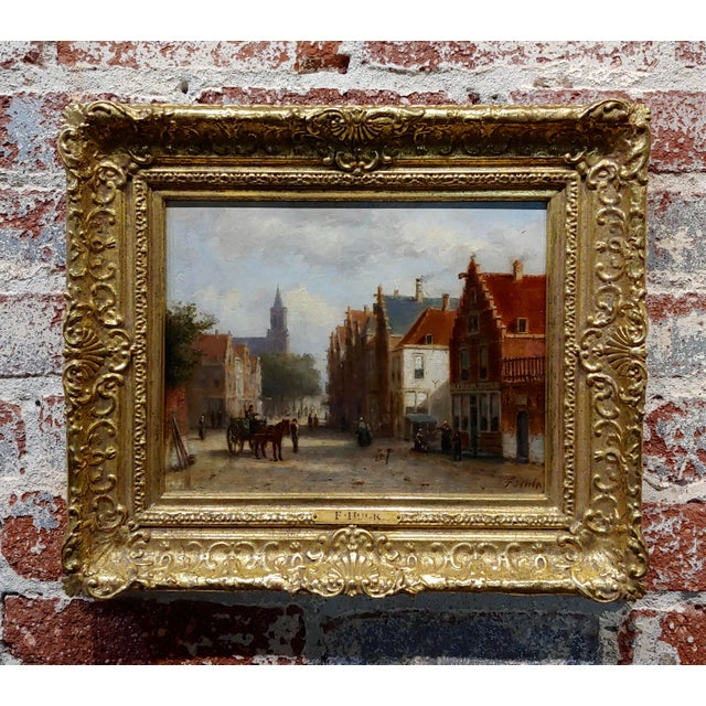 Johannes Frederick II Hulk -19th C. Early Market Day in Amsterdam-Oil Panting For Sale - Image 11 of 11