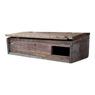 Antique Primitive Tabletop Secretary Cabinet For Sale
