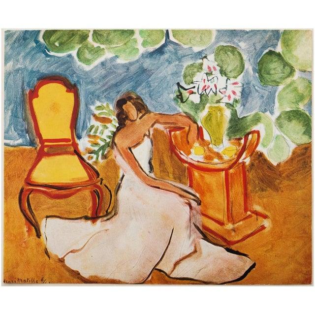 "1946 Henri Matisse Original ""Girl in the White Dress"" Parisian Period Lithograph For Sale In Dallas - Image 6 of 8"