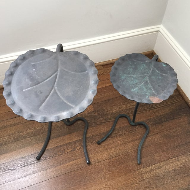 Salterini Lily Pad Nesting Tables - a Pair - Image 4 of 9