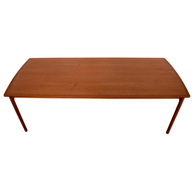 Vintage Danish Modern Teak Coffee Table by Ole Wanscher for Poul Jeppesen - Image 4 of 6