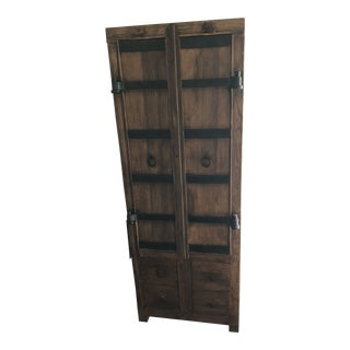 Pottery Barn Reclaimed Elm Wood Storage Tower