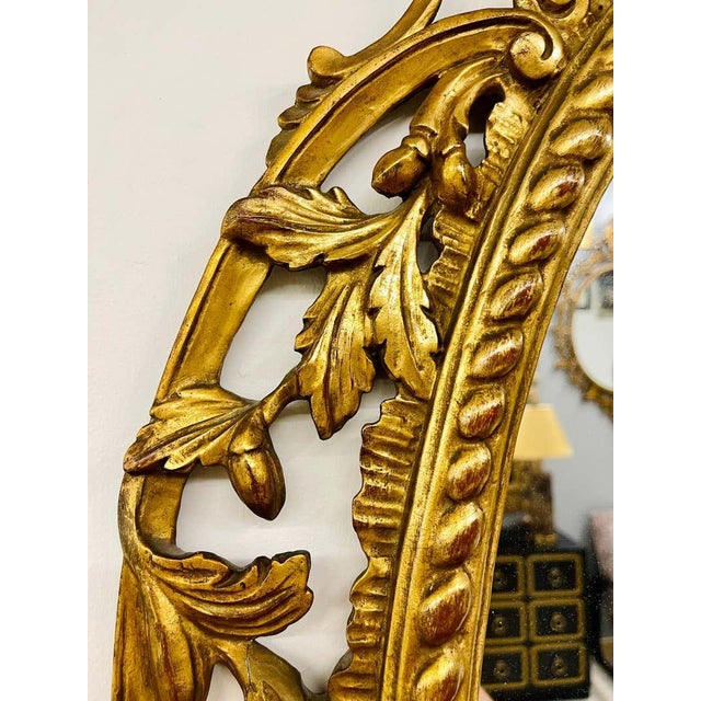 Pair Gilt Wood Wall or Console Mirrors For Sale - Image 4 of 12