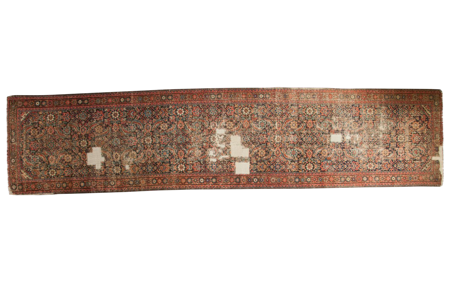 Distressed Antique Fereghan Rug Runner 3 4 Quot X 14 8