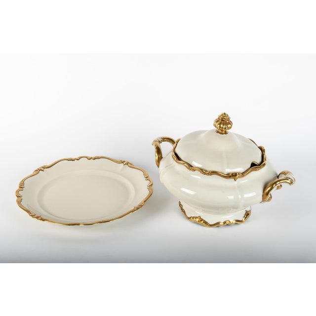 Contemporary Antique European Porcelain Covered Tureen For Sale - Image 3 of 5