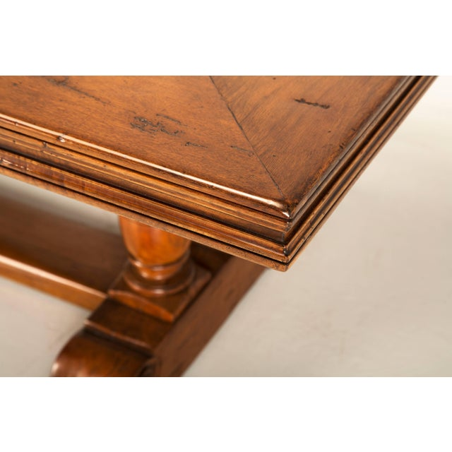 2010s French Inspired Walnut Dining Table For Sale - Image 5 of 11