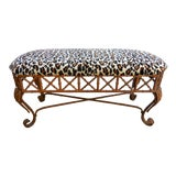 Image of Vintage Faux Bamboo Bench For Sale