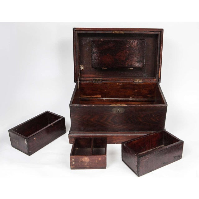 Late 19th Century Small Carpenter's Chest C. 1900 For Sale - Image 5 of 10