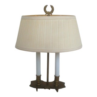 Petite Bouillotte Brass Desk Lamp Finger Paddle French Style For Sale