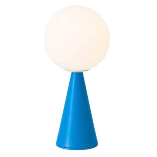 Gio Ponti 'Bilia Mini' Table Lamp in Blue for Fontana Arte For Sale