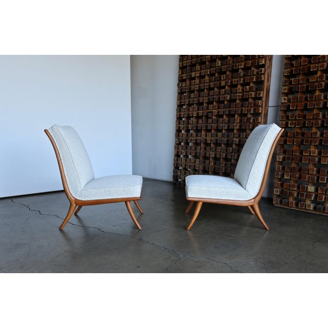 t.h. Robsjohn-Gibbings Slipper Chairs for Widdicomb Circa 1955 For Sale - Image 12 of 12