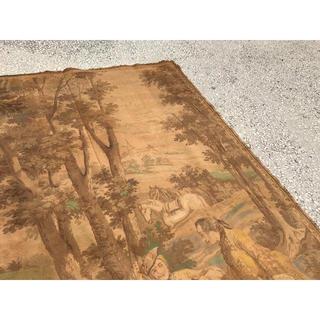 Antique gobelin tapestry fabric. * Multi color and ORIGINAL Antique - 19th century * Size 6.4 FEET x 4.2 FEET ( 197 CM x...