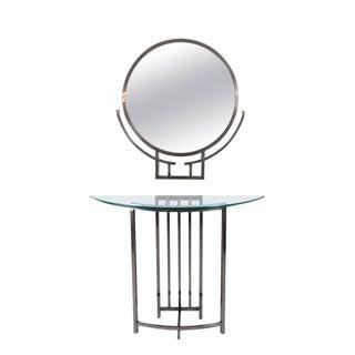 Design Institute of America Mirror & Console - A Pair For Sale
