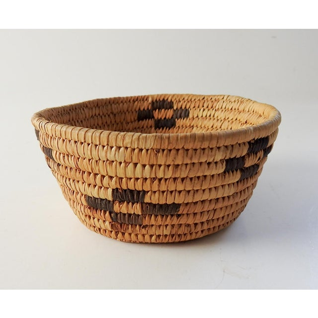 Mid 20th Century Small Papago Coil Basket For Sale - Image 5 of 5