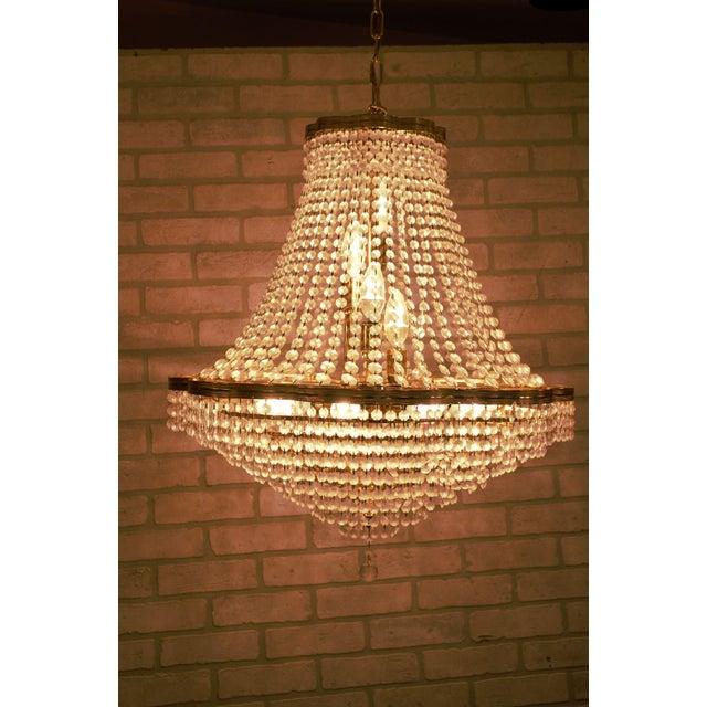 Contemporary Vintage Swarovski Crystal Chandelier For Sale - Image 3 of 12