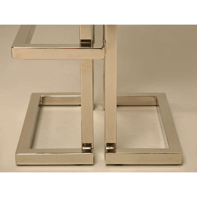 Silver Circa 1970 Romeo Rega Chrome and Leather Bar Stools - a pair For Sale - Image 8 of 10