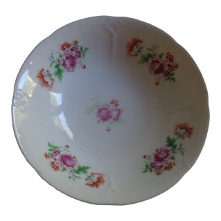 1930s Orange and Pink Peonies Bowl For Sale