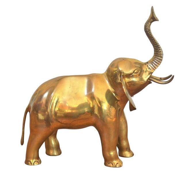 Vintage Brass Elephant Figurine - Image 1 of 6
