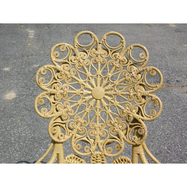 Antique Victorian Ornate Wicker Portrait Rocking Chair Rocker For Sale - Image 12 of 13