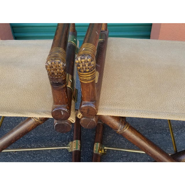 Vintage McGuire Director's Chairs - a Pair For Sale In Phoenix - Image 6 of 10