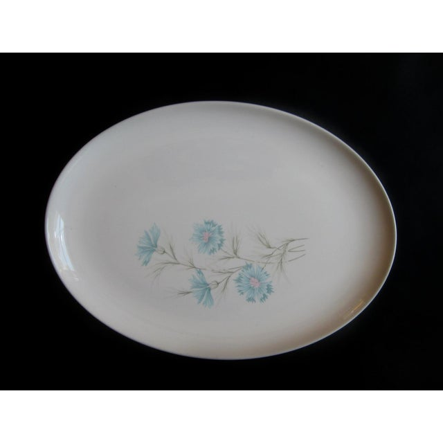Vintage Ever Yours Boutonniere Oval Large Serving Platter by Taylor, Smith and Taylor For Sale - Image 6 of 6