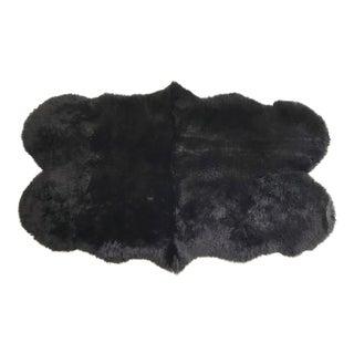 Forsyth Black Quad Sheepskin Rug - 3′7″ × 6′