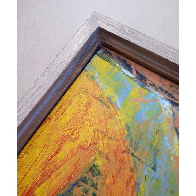 1960s Modernist Abstract Oil Painting, Framed For Sale - Image 4 of 7