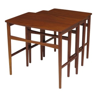 Danish Teak Nesting Tables - Set of 3 For Sale