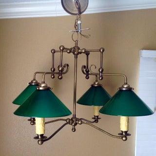 * Final Markdown * Antique Brass & Green Glass Billiard Light Preview