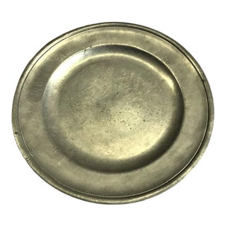 18th Century Pewter Plate Marked A. Cater, London For Sale