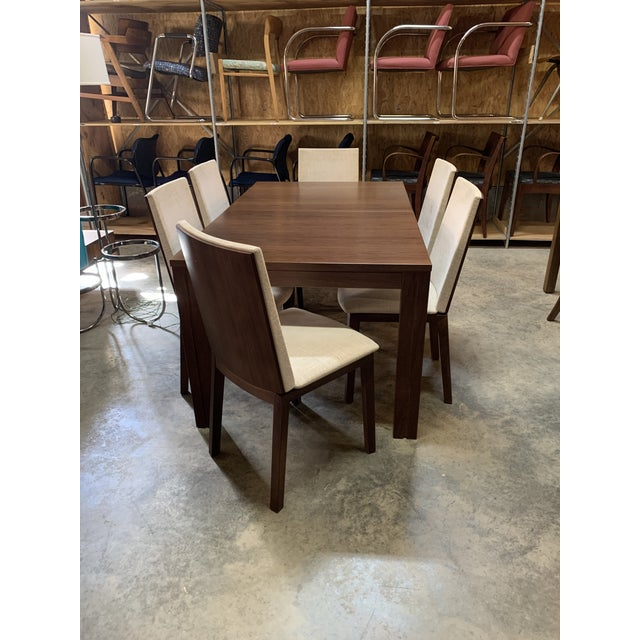 Danish Modern Skovby Extended Dining Table and Six Chairs -- 7 Pieces For Sale - Image 12 of 12