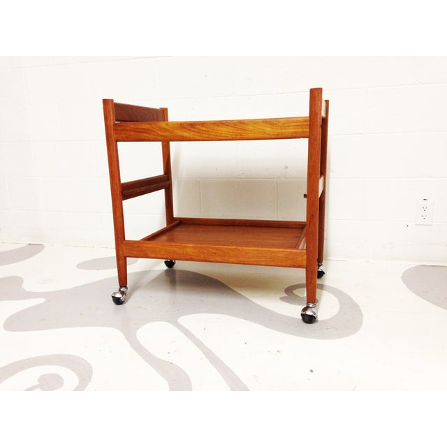 Mid-Century Teak Bar Cart - Image 4 of 7