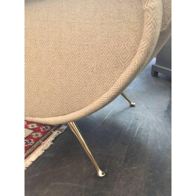 1950s Sculptural Zanuso Style Single Armchair For Sale - Image 5 of 5