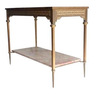 Art Deco Style Bronze Console Table