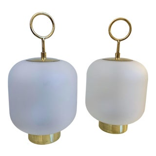 Contemporary Murano Glass Small Can Lamps - a Pair For Sale