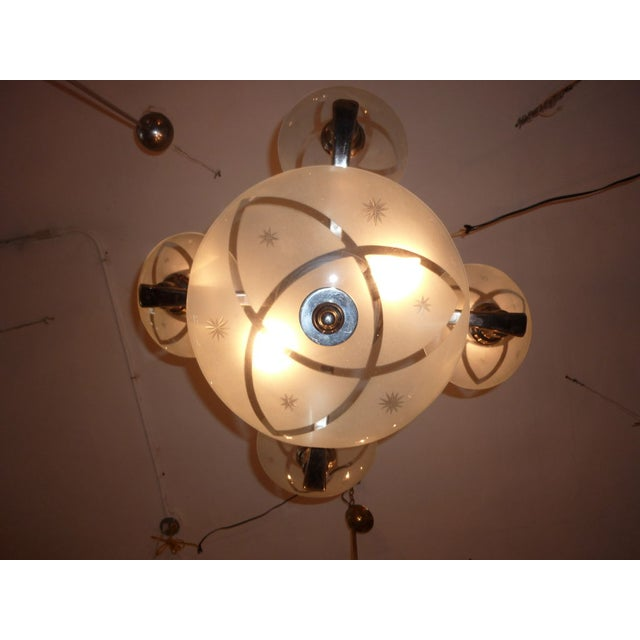 Hungarian Art Deco Chandelier For Sale - Image 4 of 5