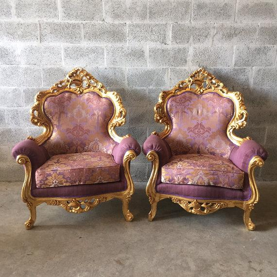 Italian Rococo Style Chairs - 4 For Sale - Image 5 of 5