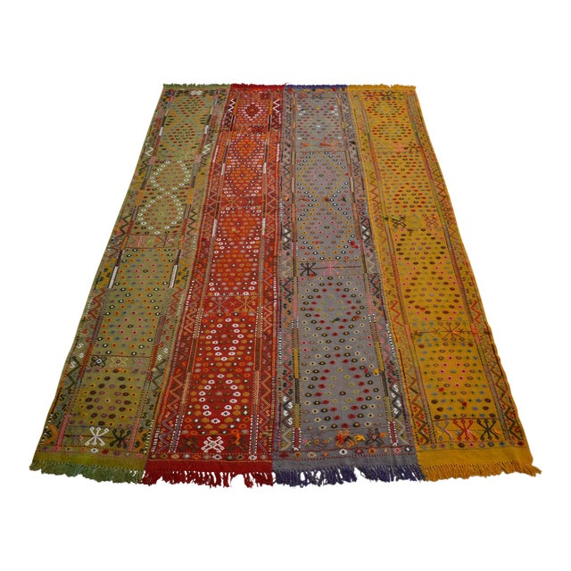 Antique Hand-Woven Turkish Rug Rare Fantastic Piece- 7′ X 11′2″ For Sale