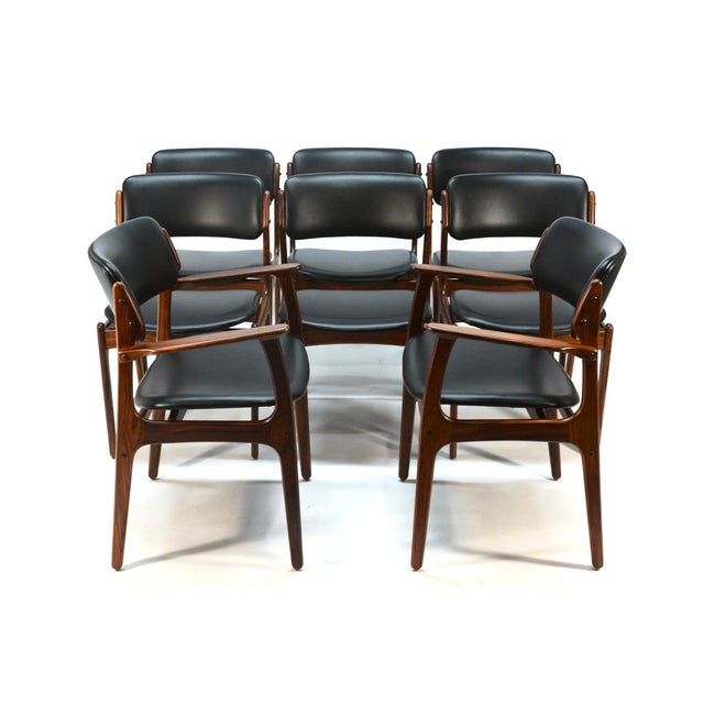 Erik Buck Model 49 Rosewood Dining Chairs - Set of 8 - Image 2 of 10