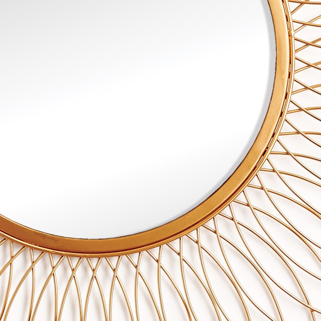 """The Duval 30"""" Round Mirror With a light and airy interlocking pattern, this mirror adds a reflective glow in grand scale...."""