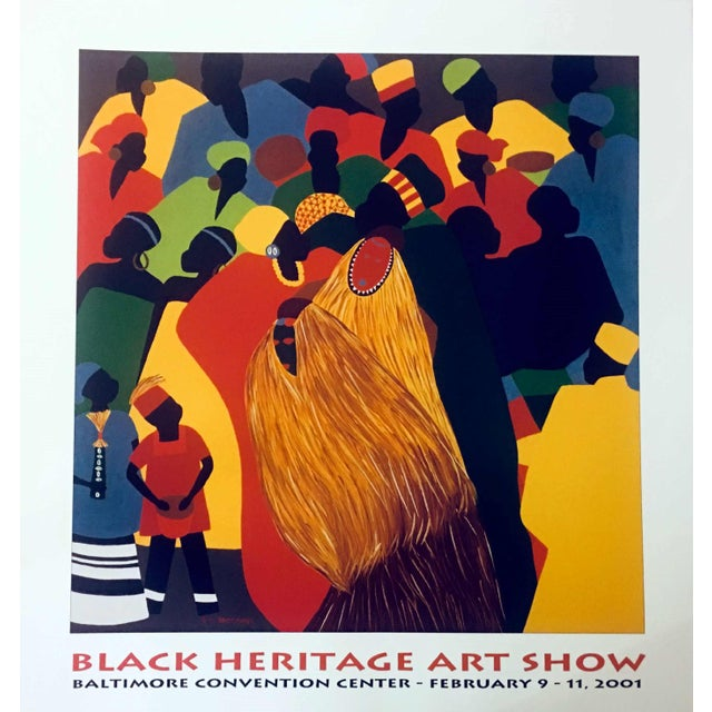 """1996 Black Heritage Art Show """"Celebration"""" Poster by Synthia Saint James For Sale - Image 11 of 11"""