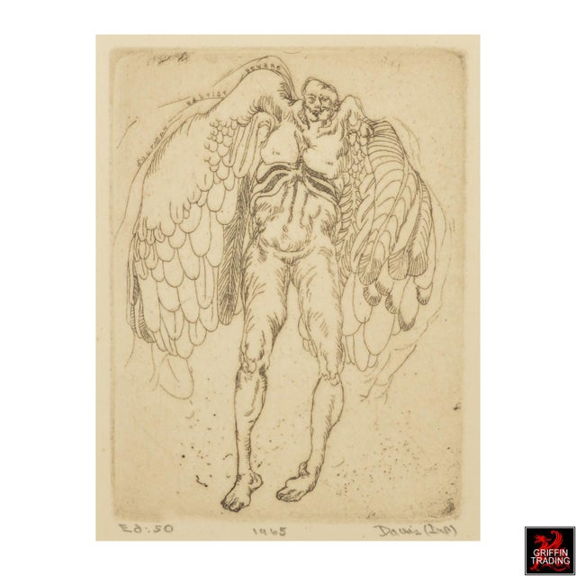 ICARUS Etching by Lee Baxter Davis 7574 For Sale - Image 4 of 5