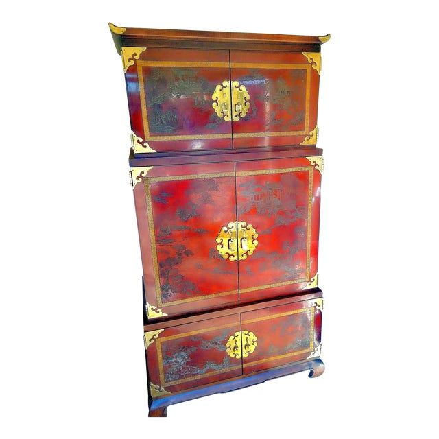 """Pretty Woman"" Movie Set Drexel Asian Armoire - Image 1 of 8"