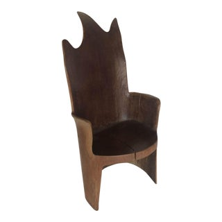Organic Modern Mahogany Occasional Chair For Sale