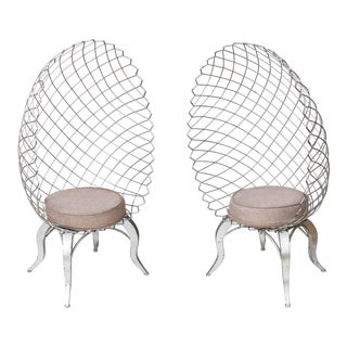 1990s Baroque Industrial Canopy Chairs - a Pair For Sale