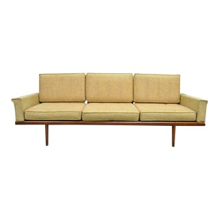 Mel Smilow Smilow Thielle Mid Century Danish Modern Teak Wood Frame Sofa Couch For Sale