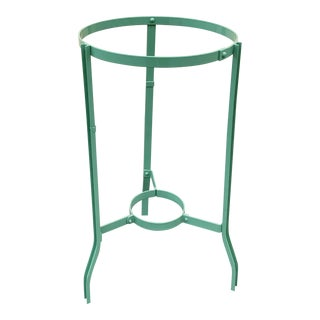 Vintage Steel Plant or Water Jug Stand, Refinished in Pistachio Green For Sale