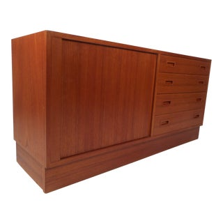 Small Mid-Century Modern Danish Teak Credenza For Sale